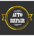 Auto Repair golden icon vector image