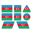 buttons with flag of Azerbaijan vector image