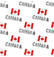 hand drawn seamless pattern with canada flag and vector image