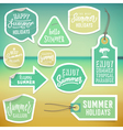 Summer holiday vacation stickers and labels vector image