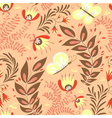 pattern with butterfly vector image vector image