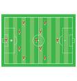 4-5-1 soccer scheme vector image