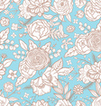 Seamless pattern with different flowers vector image