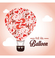 Air balloon over pink background vector image
