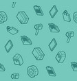 delivery flat outline isometric pattern vector image