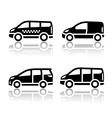 Set of transport icons - Cargo van vector image