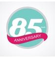 Template Logo 85 Anniversary vector image
