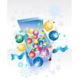 Open explore gift box vector image