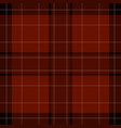 seamless red brown black tartan - white stripes vector image