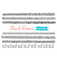 hand - drawn borders collection of simple hand - vector image vector image