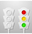 Paper traffic light vector image vector image