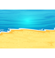 A beautiful view of the beach vector image