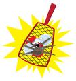 mosquito flyswatter vector image vector image