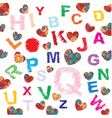 colored letters vector image vector image