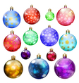 Christmas balls with snowflakes vector image vector image