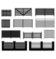 Silhouettes of fences vector image