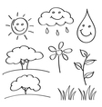 summer hand drawn sketches vector image