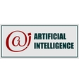 Artificial intelligence emblem vector image