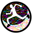 Athlete icon vector image