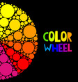 color wheel or color circle on black background vector image