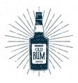 Retro rum bottle label design Vintage alcohol vector image