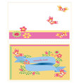 template card with flowers vector image