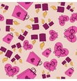 Valentine Day pink pattern with pink background vector image