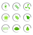 Ecological and environmental icons vector image vector image