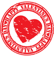 Happy valentines day stamp vector image vector image