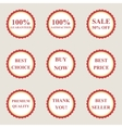 Set of flat sale icons vector image