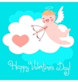 Valentines Day card with cute Cupids and hearts vector image vector image