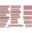Patterns for Embroidery Stitch Red and Black vector image vector image