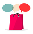 Shopping Bag with Empty Speech Bubbles Isolated on vector image