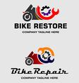 Bike Repair Logos vector image
