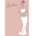 Wedding card with bride vector image