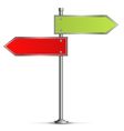 Pole with Road Signs vector image vector image