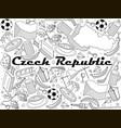 czech republic line art design vector image