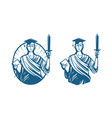 Education legal services logo notary justice vector image