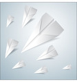 Folded paper airplanes set vector image