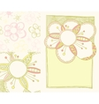 set of spring backgrounds vector image
