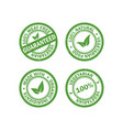 set of vegetarian food stamps vector image
