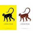 silhouette monkey vector image