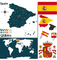 Spain map world vector image