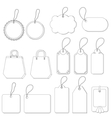 tags set contours vector image