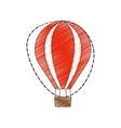 drawing airballoon recreation vacation travel vector image
