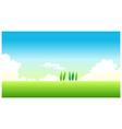 Green Landscape Blue Sky vector image vector image