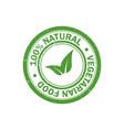 100 natural food stamp vegetarian food icon vector image
