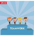 Business man teamwork spirit - - EPS10 vector image
