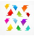 Colorful Arrows Isolated on White Background vector image vector image