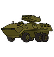 Launcher armoured vehicle vector image